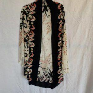Anthropologie Roffe Isolde Floral Kimono